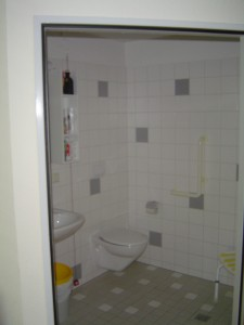 Each room has a private shower and bathroom.