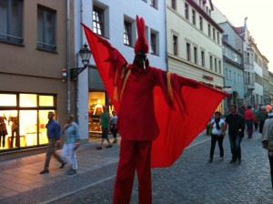 Puppet on the streets.