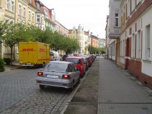 My street.  Huebner Strasse.